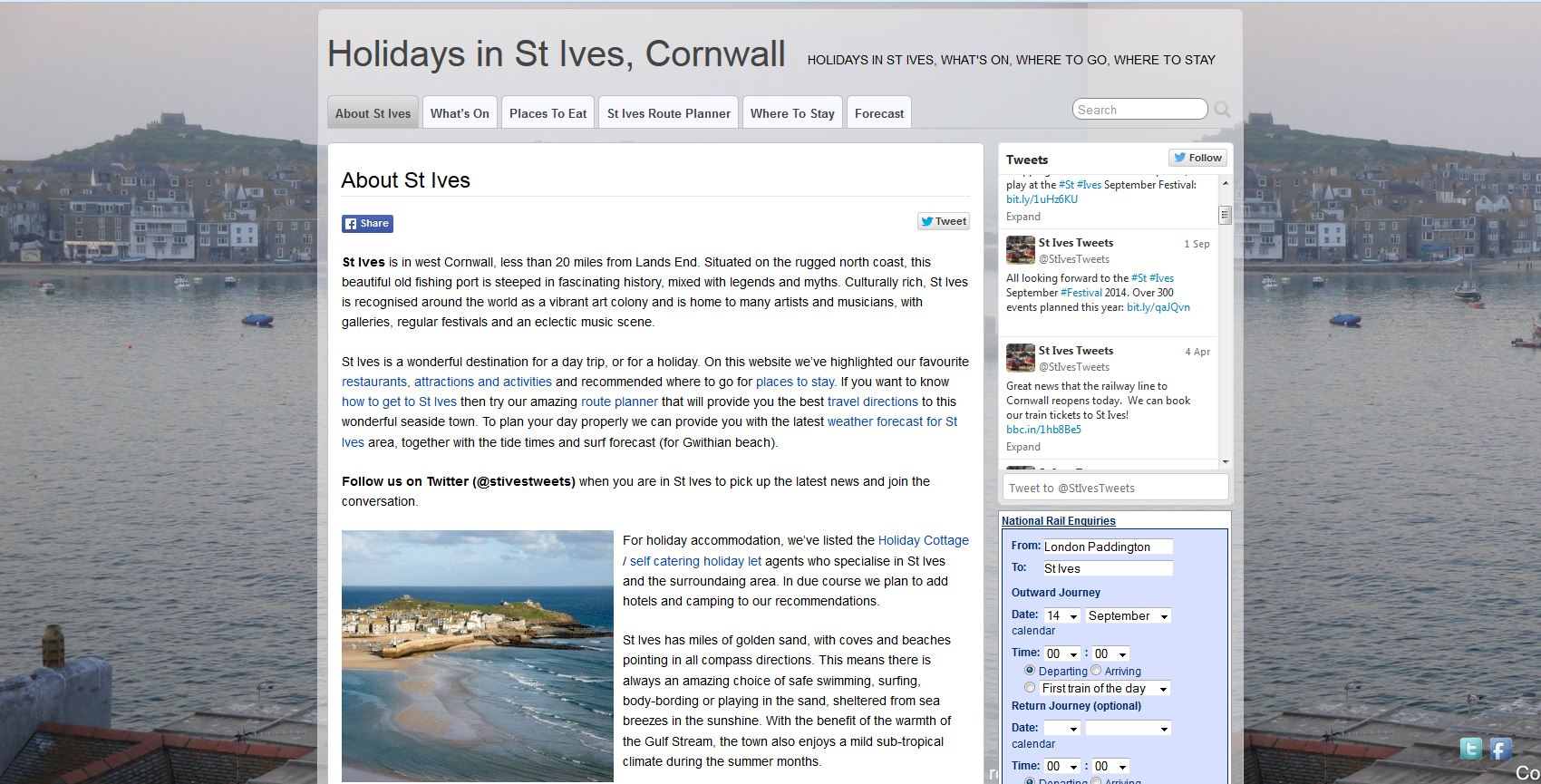 Travel to St Ives LP3